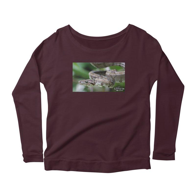Amazon Tree Boa Women's Scoop Neck Longsleeve T-Shirt by Dav Kaufman's Swag Shop!