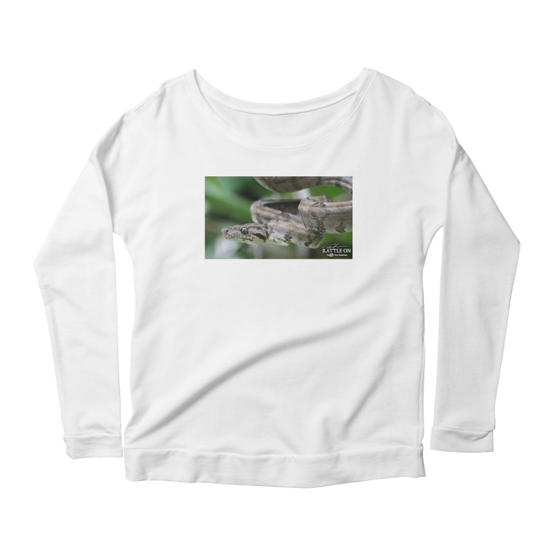 Amazon Tree Boa Women's Scoop Neck Longsleeve T-Shirt by Dav Kaufman's Swag Shop!