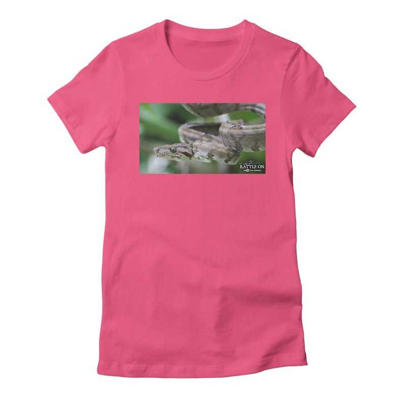 Amazon Tree Boa Women's Fitted T-Shirt by Dav Kaufman's Swag Shop!