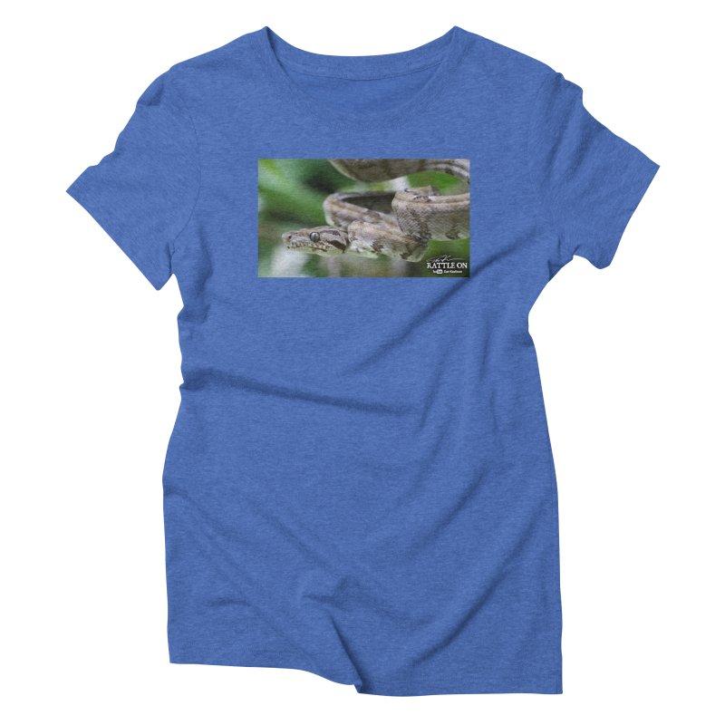 Amazon Tree Boa Women's Triblend T-Shirt by Dav Kaufman's Swag Shop!