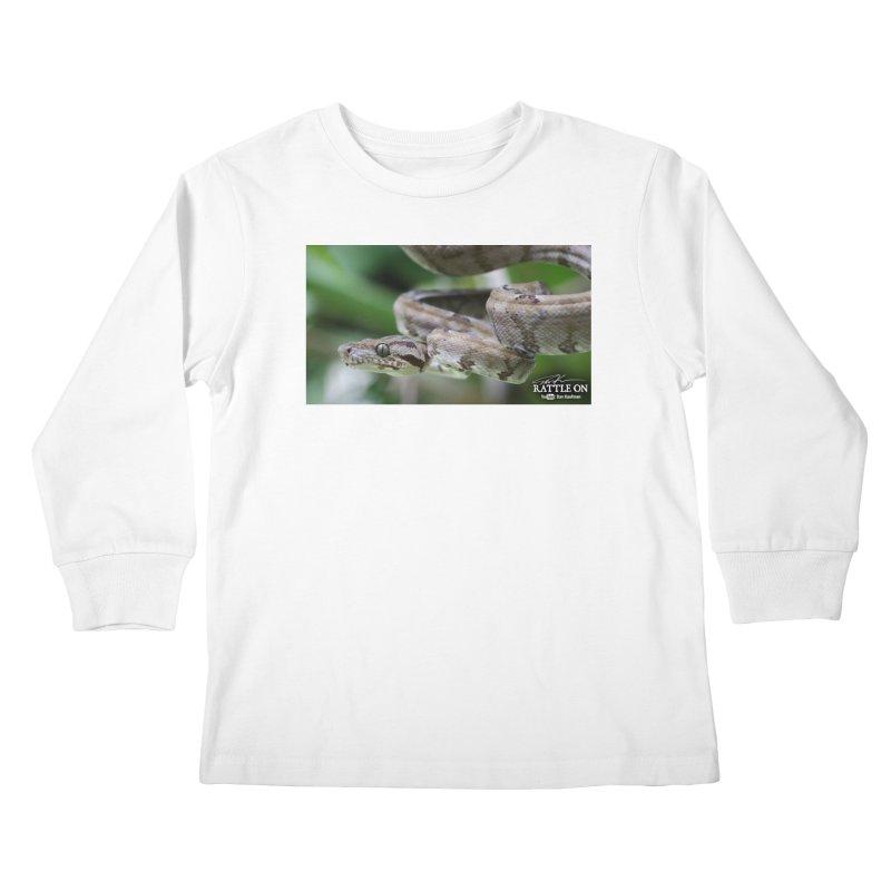 Amazon Tree Boa Kids Longsleeve T-Shirt by Dav Kaufman's Swag Shop!