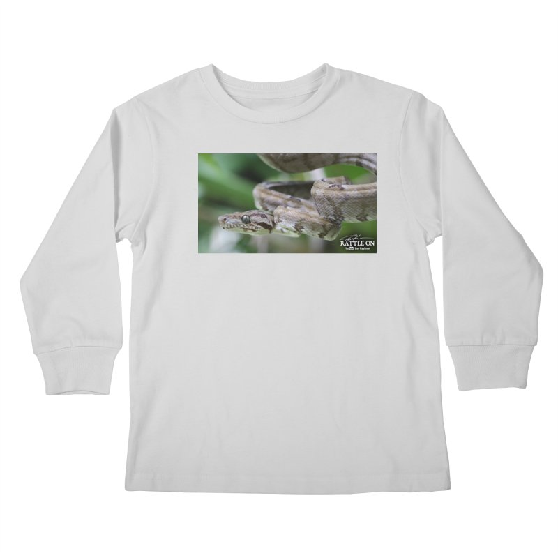 Amazon Tree Boa Kids Longsleeve T-Shirt by Dav Kaufman's Swag Shop!