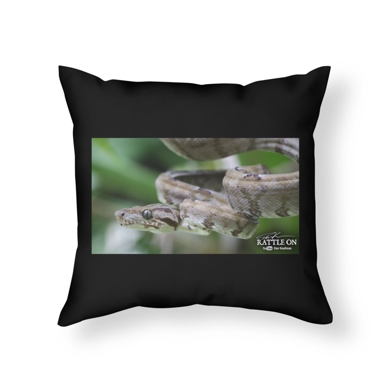 Amazon Tree Boa Home Throw Pillow by Dav Kaufman's Swag Shop!