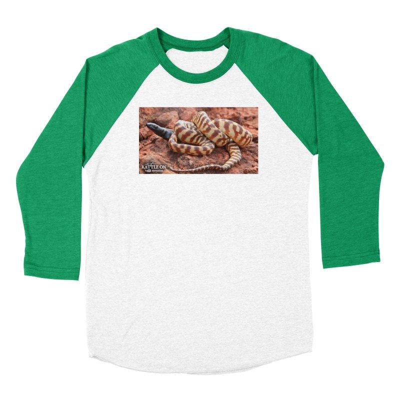 Black Headed Python Men's Baseball Triblend Longsleeve T-Shirt by Dav Kaufman's Swag Shop!