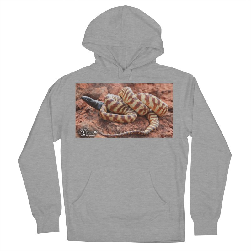 Black Headed Python Men's French Terry Pullover Hoody by Dav Kaufman's Swag Shop!
