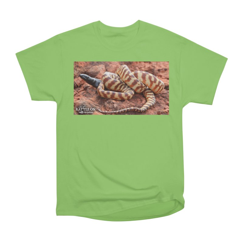 Black Headed Python Men's Heavyweight T-Shirt by Dav Kaufman's Swag Shop!