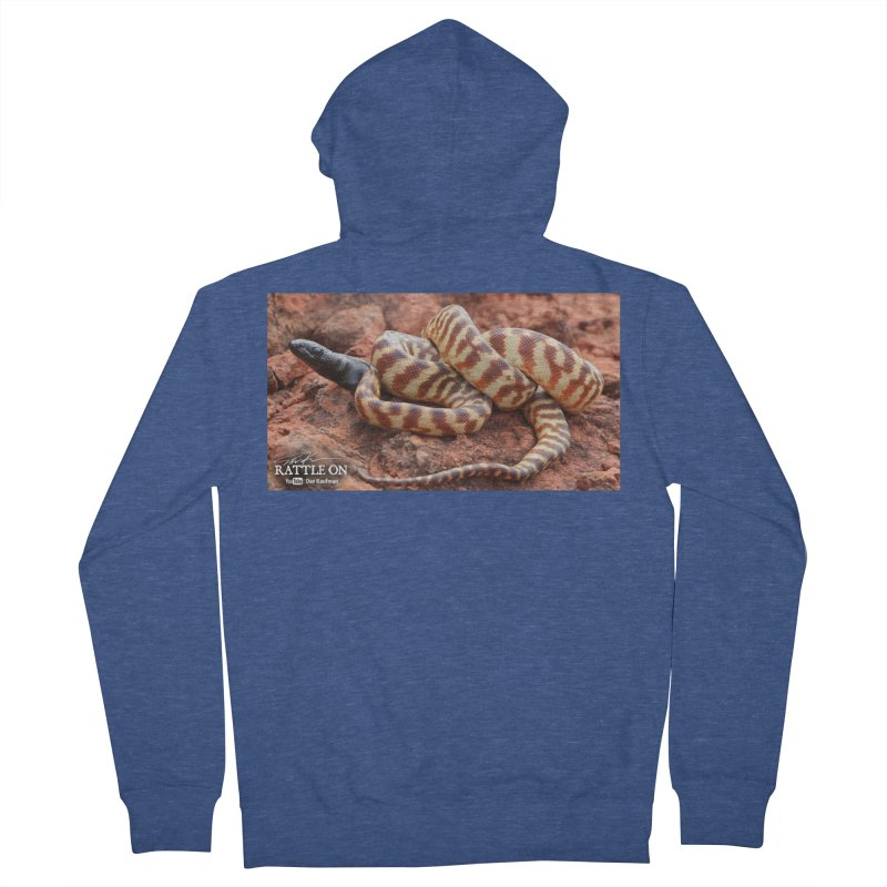 Black Headed Python Women's Zip-Up Hoody by Dav Kaufman's Swag Shop!