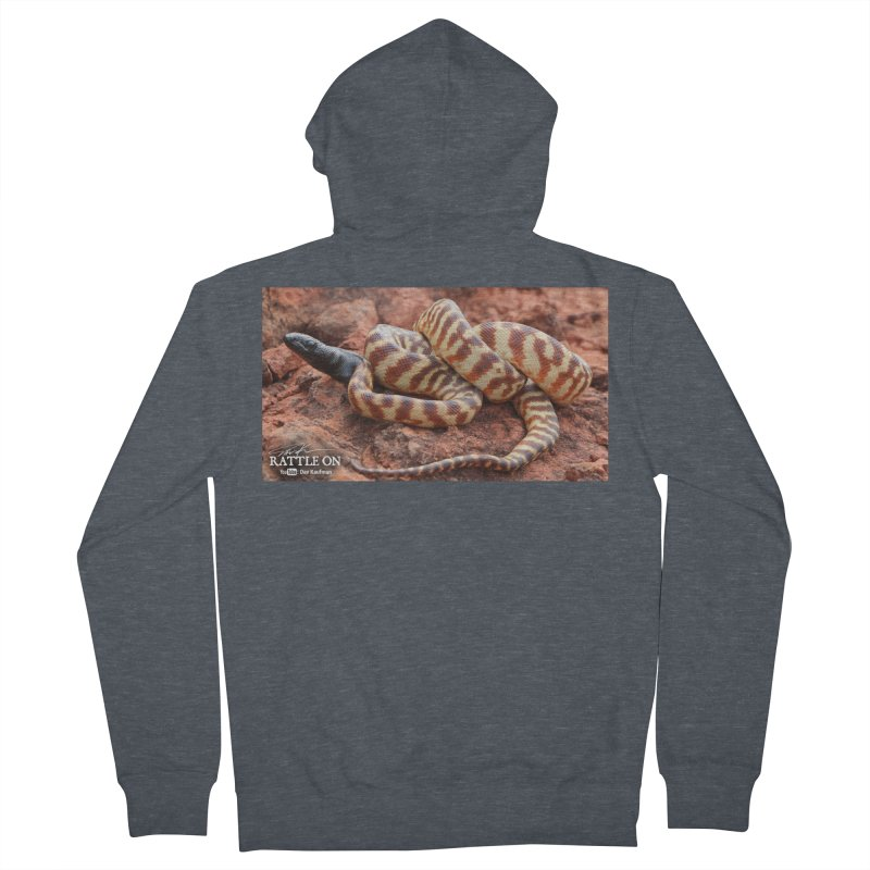 Black Headed Python Women's French Terry Zip-Up Hoody by Dav Kaufman's Swag Shop!