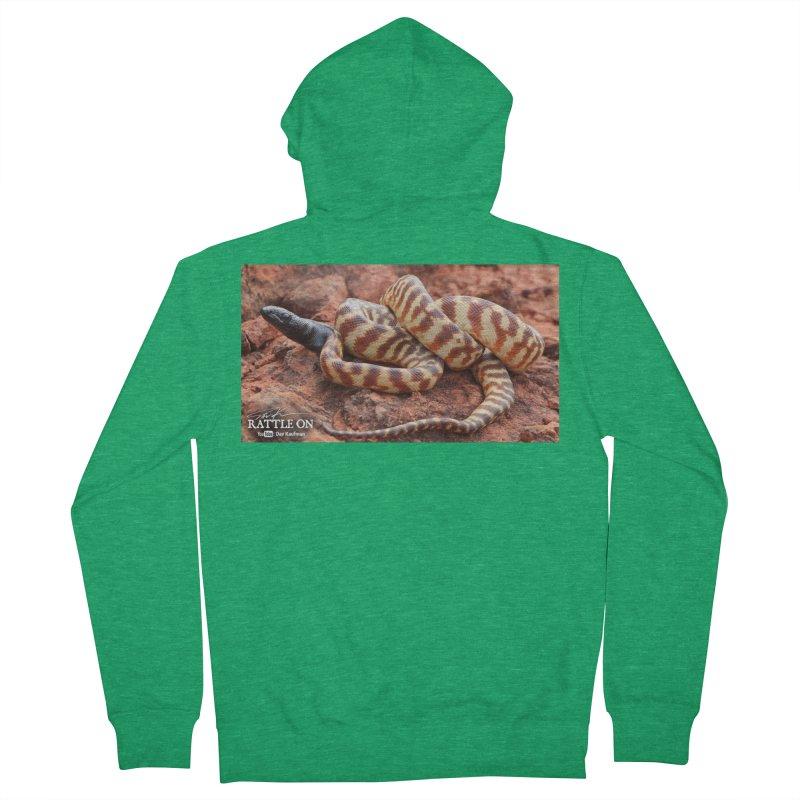 Black Headed Python Men's Zip-Up Hoody by Dav Kaufman's Swag Shop!