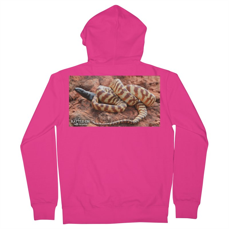Black Headed Python Men's French Terry Zip-Up Hoody by Dav Kaufman's Swag Shop!