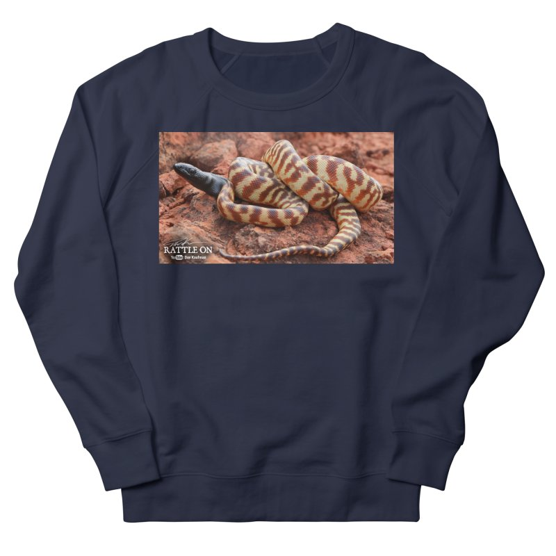 Black Headed Python Men's French Terry Sweatshirt by Dav Kaufman's Swag Shop!