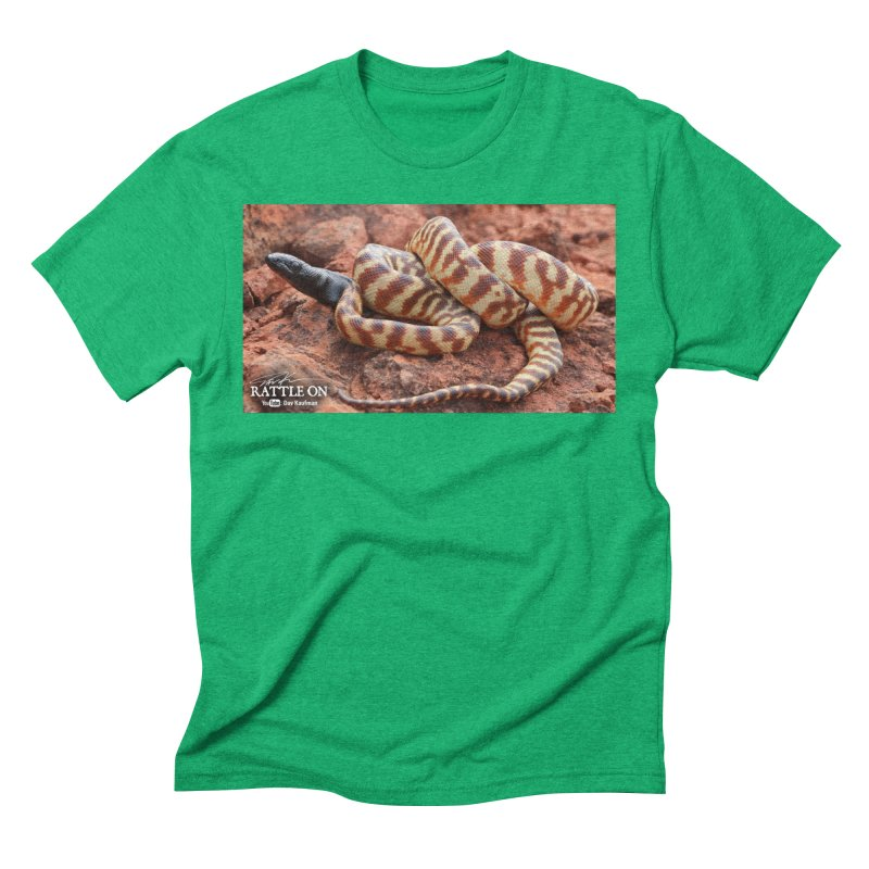 Black Headed Python Men's Triblend T-Shirt by Dav Kaufman's Swag Shop!