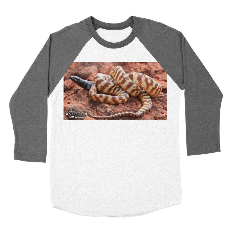 Black Headed Python Women's Baseball Triblend Longsleeve T-Shirt by Dav Kaufman's Swag Shop!