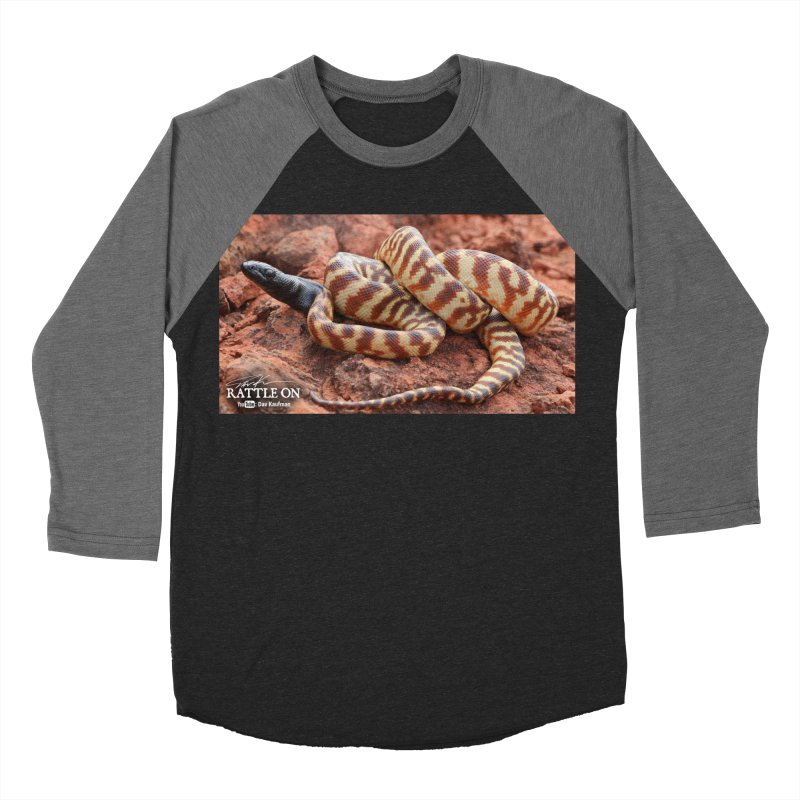 Black Headed Python Men's Baseball Triblend Longsleeve T-Shirt by Dav Kaufman's Swag Shop!