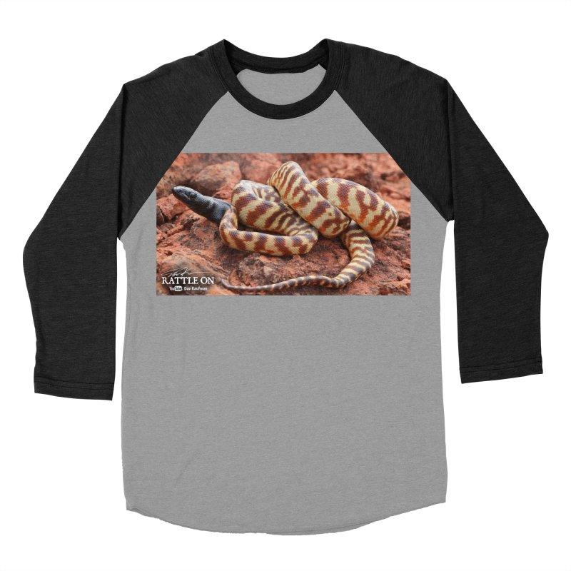 Black Headed Python Men's Baseball Triblend T-Shirt by Dav Kaufman's Swag Shop!