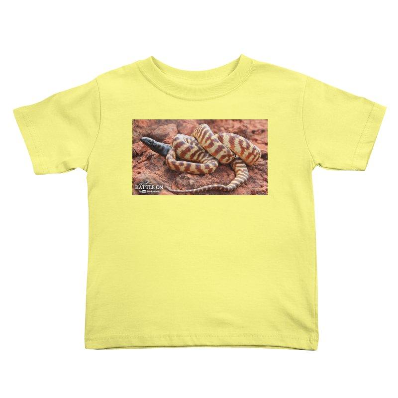 Black Headed Python Kids Toddler T-Shirt by Dav Kaufman's Swag Shop!