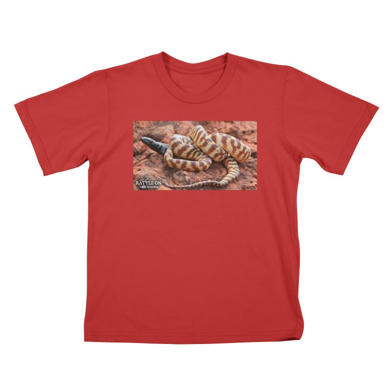Black Headed Python Kids T-Shirt by Dav Kaufman's Swag Shop!