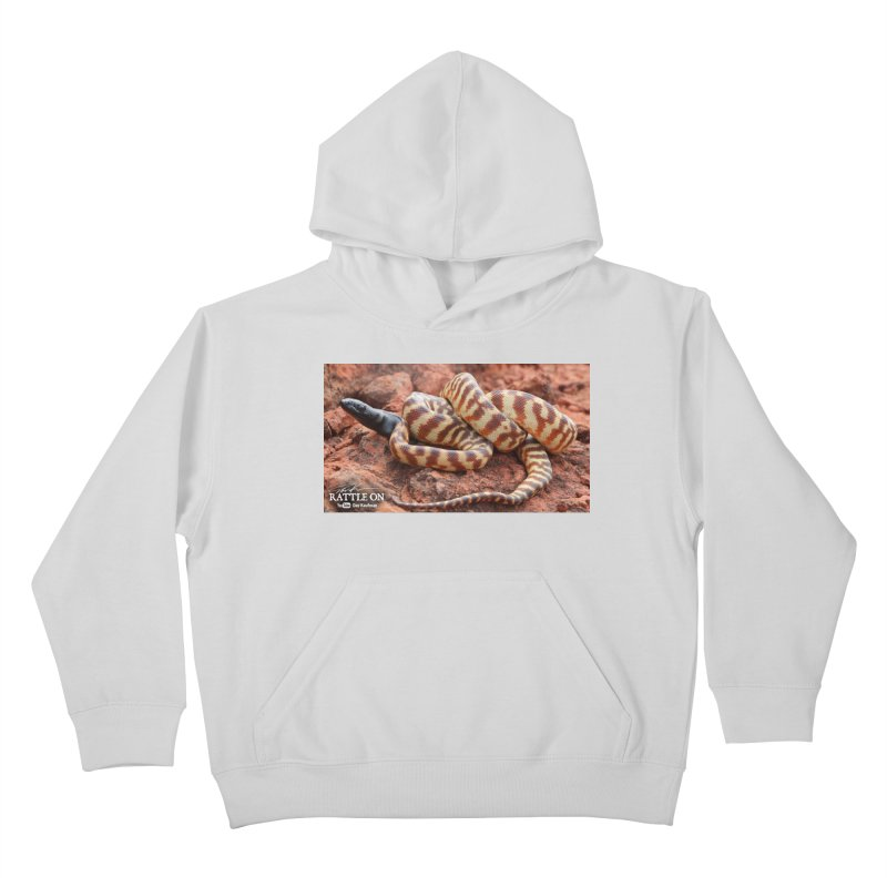 Black Headed Python Kids Pullover Hoody by Dav Kaufman's Swag Shop!