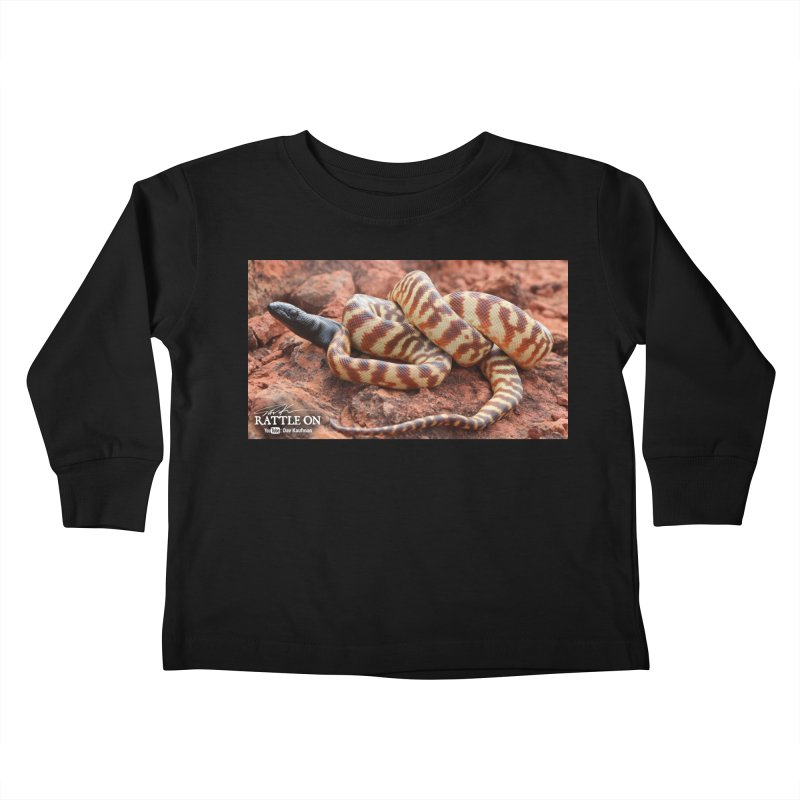Black Headed Python Kids Toddler Longsleeve T-Shirt by Dav Kaufman's Swag Shop!