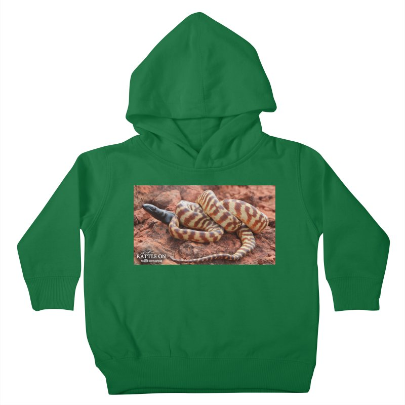 Black Headed Python Kids Toddler Pullover Hoody by Dav Kaufman's Swag Shop!