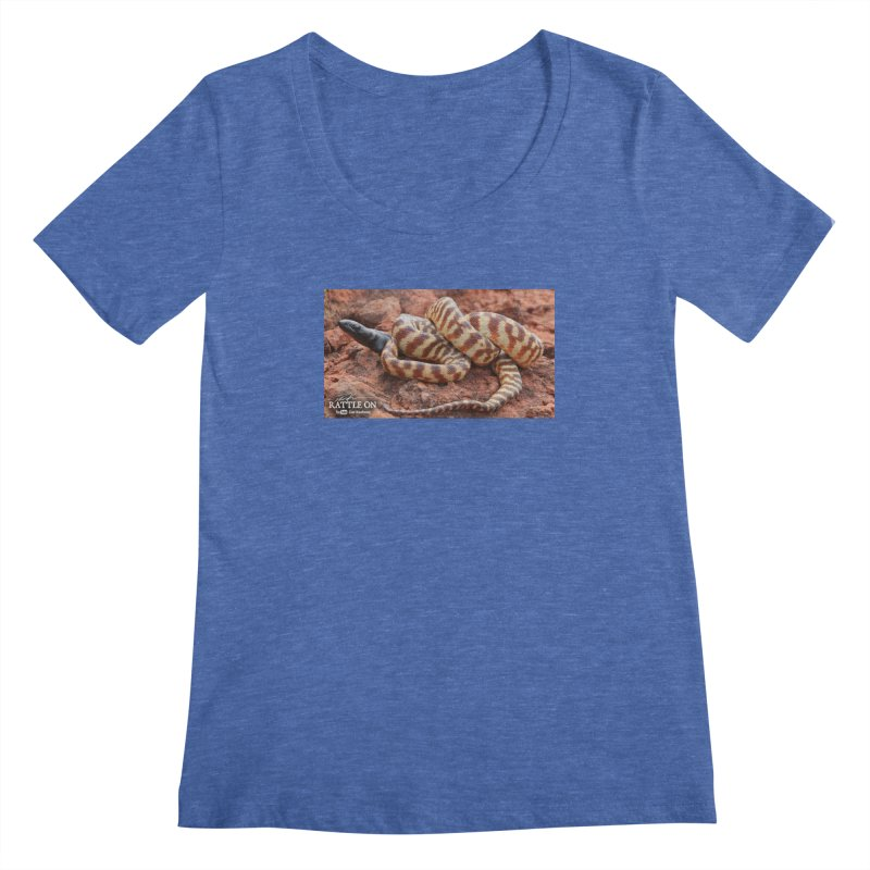 Black Headed Python Women's Scoopneck by Dav Kaufman's Swag Shop!