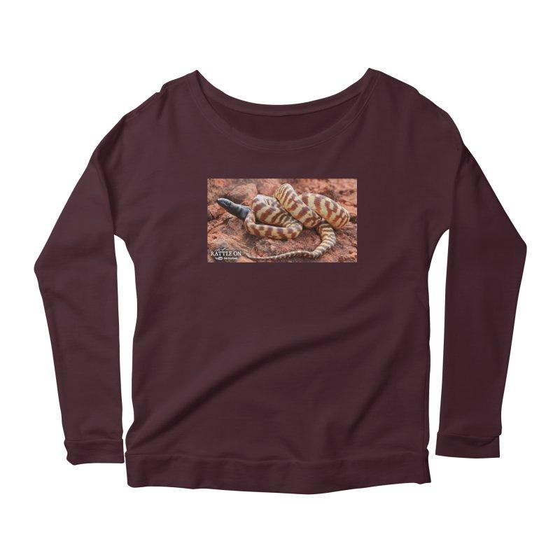Black Headed Python Women's Scoop Neck Longsleeve T-Shirt by Dav Kaufman's Swag Shop!