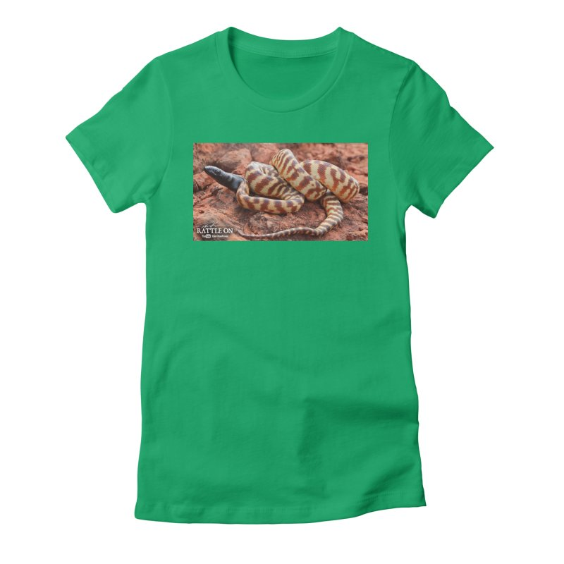 Black Headed Python Women's Fitted T-Shirt by Dav Kaufman's Swag Shop!