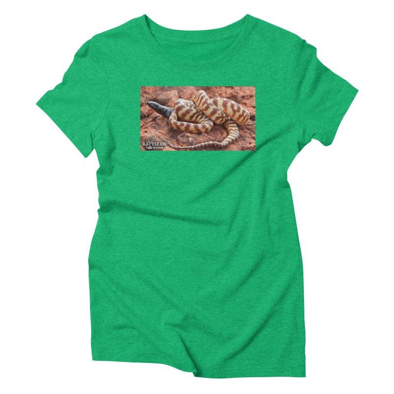 Black Headed Python Women's Triblend T-Shirt by Dav Kaufman's Swag Shop!