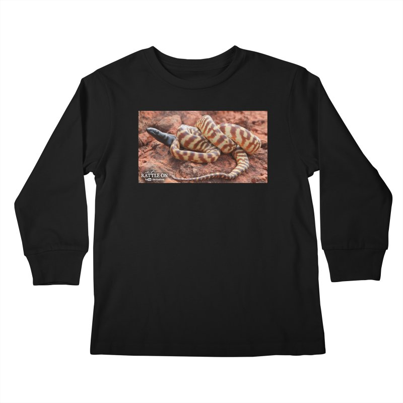 Black Headed Python Kids Longsleeve T-Shirt by Dav Kaufman's Swag Shop!