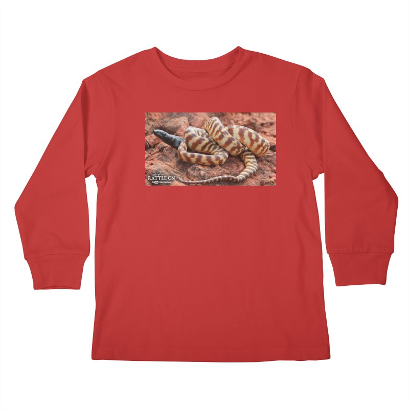 Black Headed Python Kids Longsleeve T-Shirt by Dav Kaufman's Swag Shop!