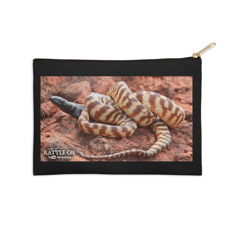 Black Headed Python Accessories Zip Pouch by Dav Kaufman's Swag Shop!