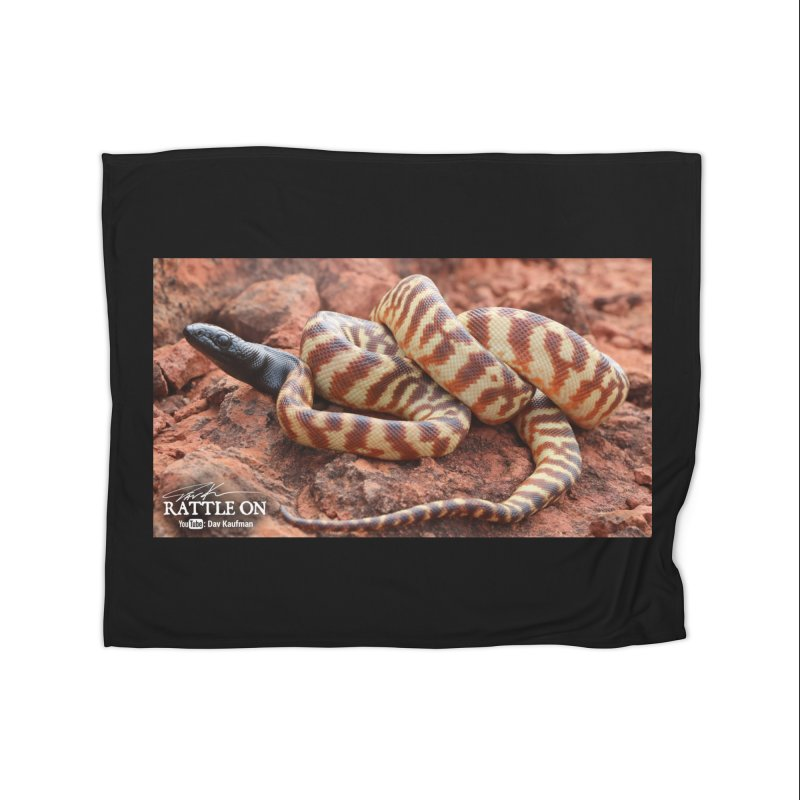 Black Headed Python Home Fleece Blanket Blanket by Dav Kaufman's Swag Shop!