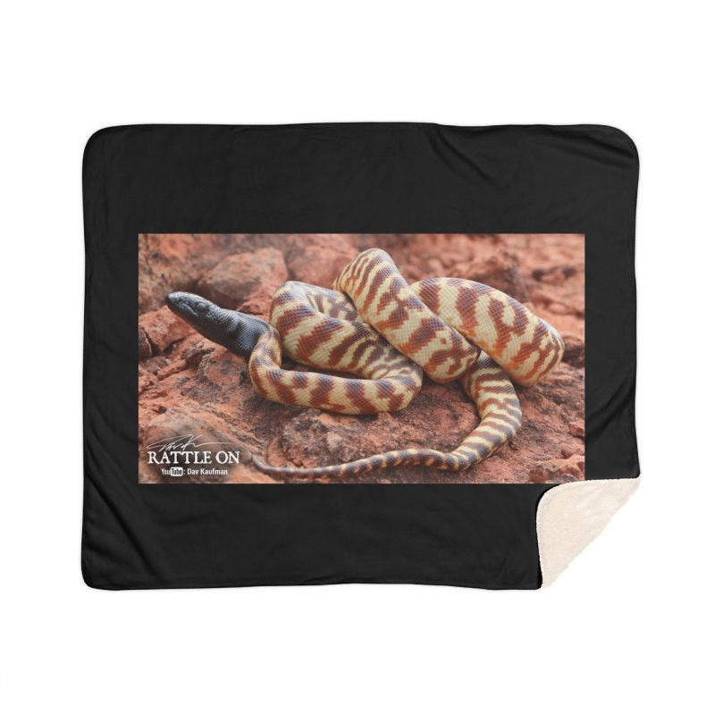 Black Headed Python Home Sherpa Blanket Blanket by Dav Kaufman's Swag Shop!