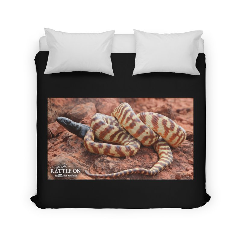 Black Headed Python Home Duvet by Dav Kaufman's Swag Shop!