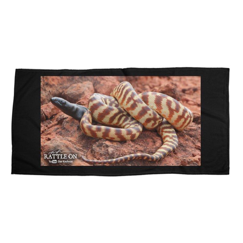 Black Headed Python Accessories Beach Towel by Dav Kaufman's Swag Shop!