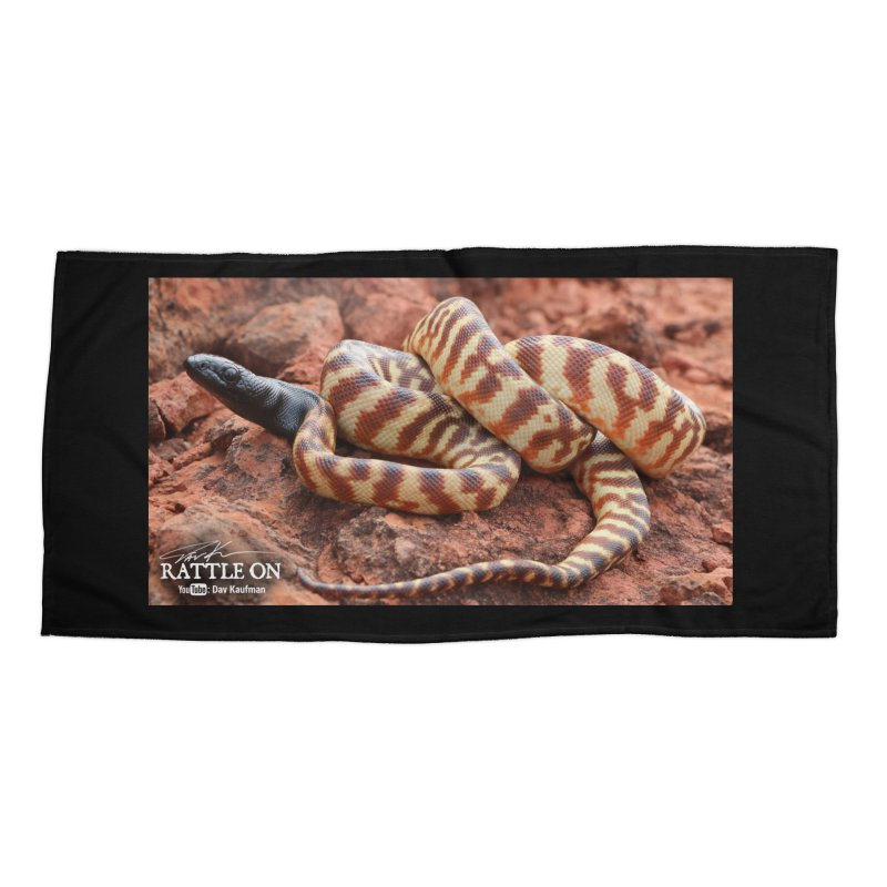 Black Headed Python Accessories Beach Towel by Dav Kaufman's Swag Shop!