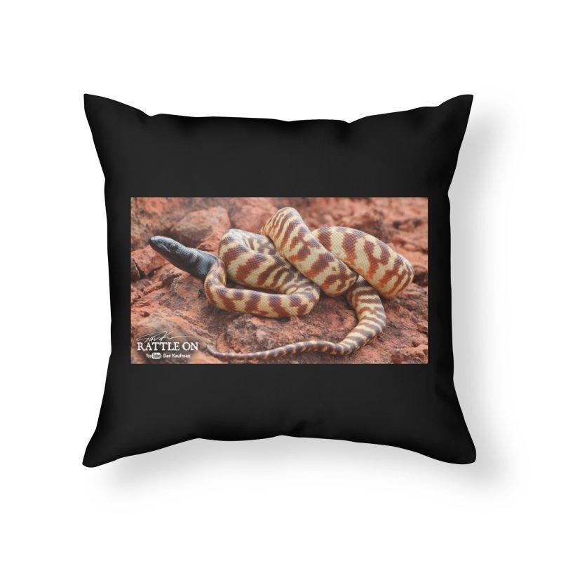 Black Headed Python Home Throw Pillow by Dav Kaufman's Swag Shop!