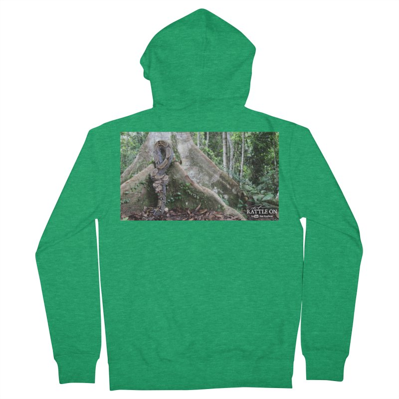 Peruvian Red-tailed Boa Men's Zip-Up Hoody by Dav Kaufman's Swag Shop!