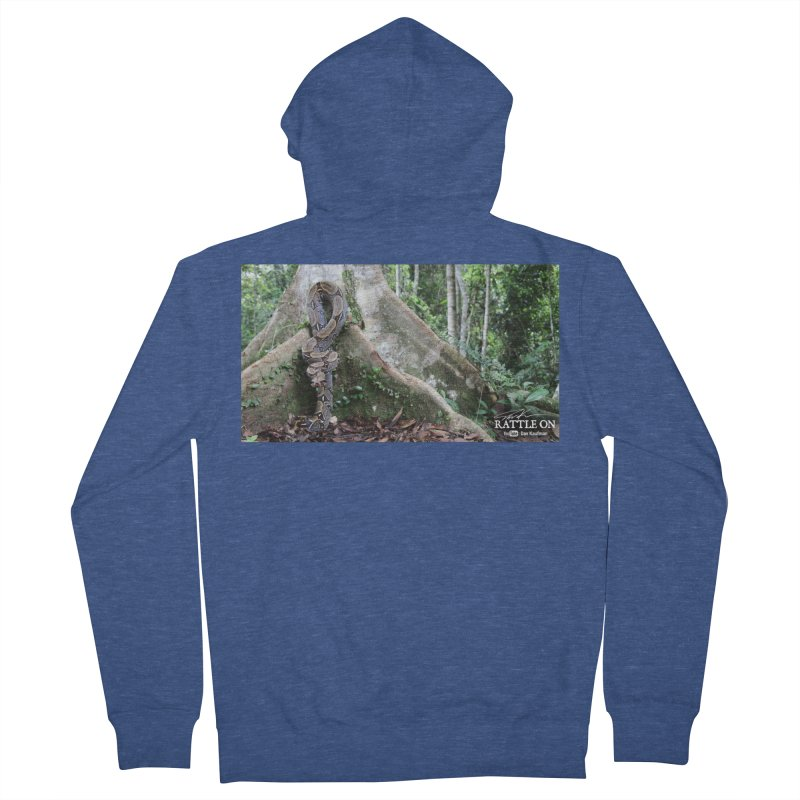 Peruvian Red-tailed Boa Men's French Terry Zip-Up Hoody by Dav Kaufman's Swag Shop!