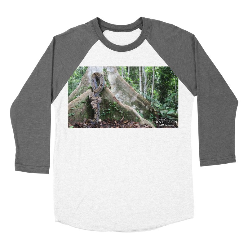 Peruvian Red-tailed Boa Women's Baseball Triblend Longsleeve T-Shirt by Dav Kaufman's Swag Shop!