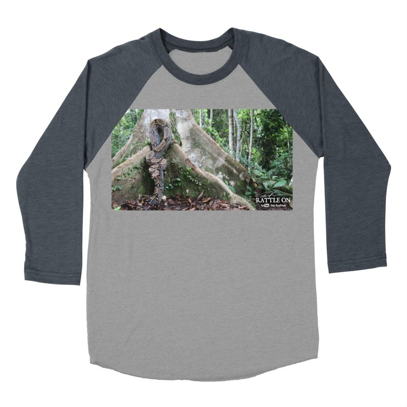 Peruvian Red-tailed Boa Women's Baseball Triblend Longsleeve T-Shirt by Dav Kaufman's Swag Shop!
