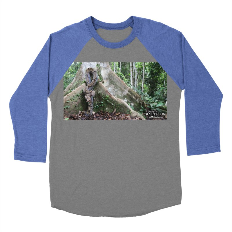 Peruvian Red-tailed Boa Men's Baseball Triblend Longsleeve T-Shirt by Dav Kaufman's Swag Shop!