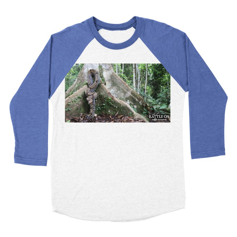 Peruvian Red-tailed Boa Men's Baseball Triblend Longsleeve T-Shirt by Dav Kaufman's Swag Shop!