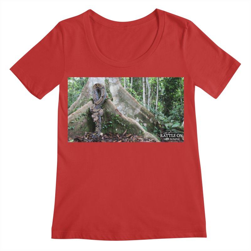 Peruvian Red-tailed Boa Women's Regular Scoop Neck by Dav Kaufman's Swag Shop!
