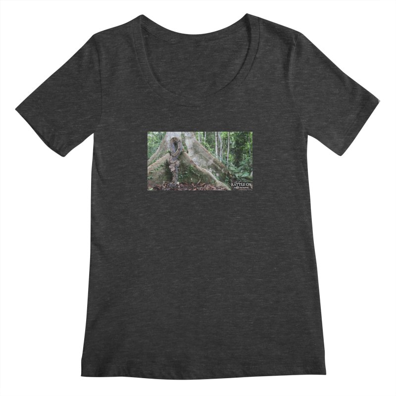 Peruvian Red-tailed Boa Women's Scoopneck by Dav Kaufman's Swag Shop!