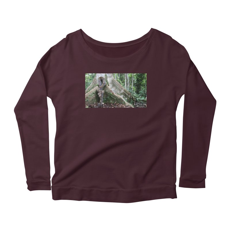 Peruvian Red-tailed Boa Women's Longsleeve Scoopneck  by Dav Kaufman's Swag Shop!