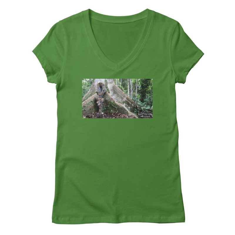 Peruvian Red-tailed Boa Women's Regular V-Neck by Dav Kaufman's Swag Shop!
