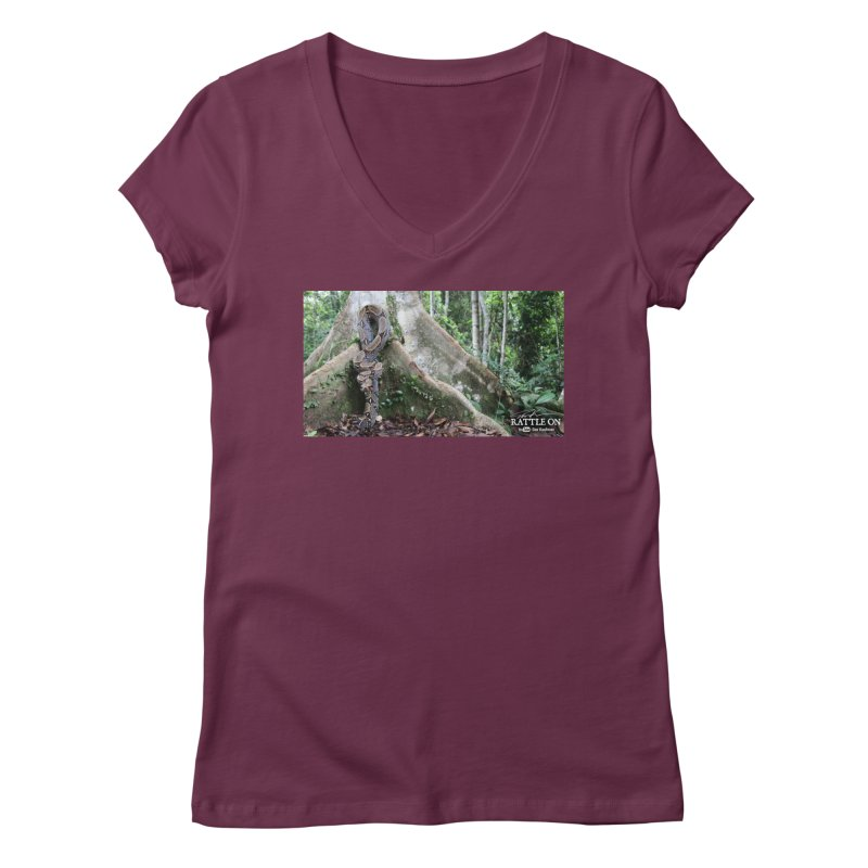 Peruvian Red-tailed Boa Women's V-Neck by Dav Kaufman's Swag Shop!