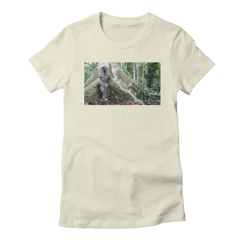 Peruvian Red-tailed Boa Women's Fitted T-Shirt by Dav Kaufman's Swag Shop!