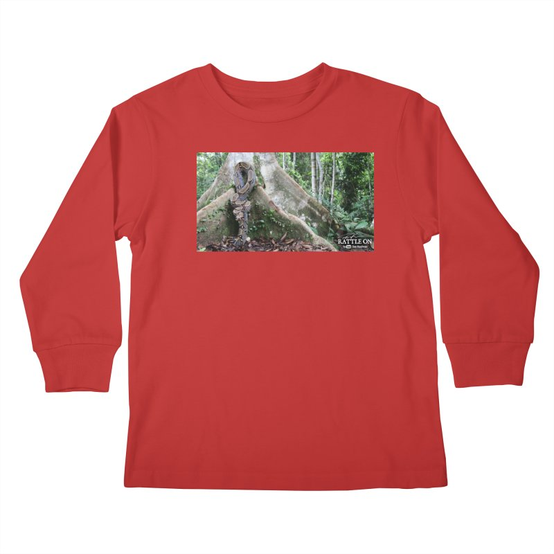 Peruvian Red-tailed Boa Kids Longsleeve T-Shirt by Dav Kaufman's Swag Shop!